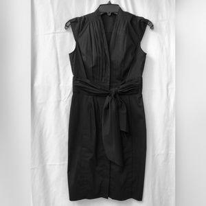Black Anne Klein Tie Front Dress